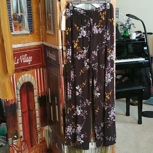 Live To Be Spoiled Kohl's flower flowing pants